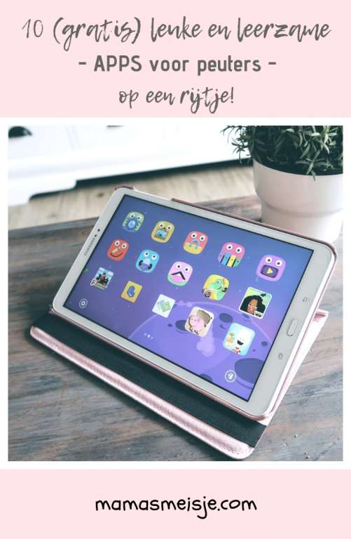 10 (gratis) leuke en leerzame apps voor peuters op de tablet
