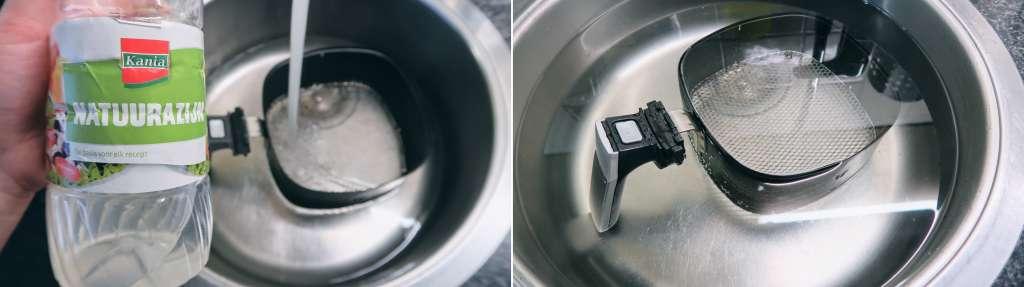 airfryer schoonmaken met natuurazijn azijn resultaat foto's getest review tips - Mama's Meisje blog