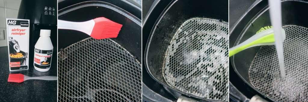 collage manier airfryer reiniger HG uitleg ervaring beoordeling review getest resultaat - Mama's Meisje blog