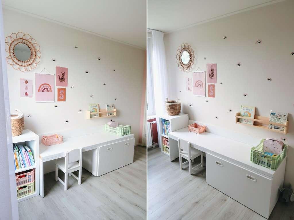 Ikea stuva speelhoek hack op de slaapkamer boven spelen kinderkamer inspiratie - Mama's Meisje blog