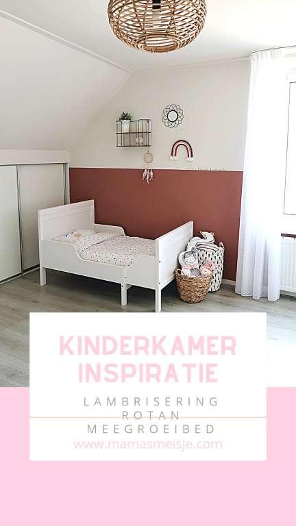 Kinderkamer inspiratie pinterest rotan lambrisering meegroeibed - Mama's Meisje blog