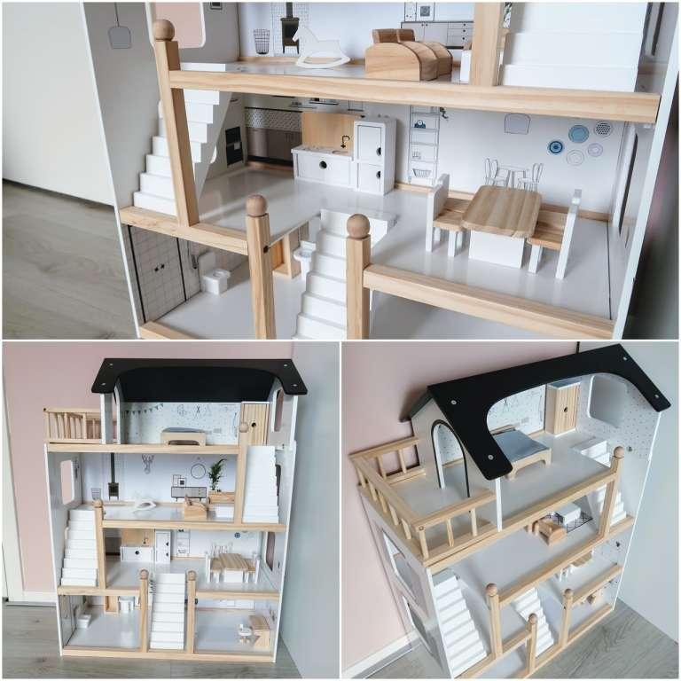 collage houten poppenhuis Petit Amelie wit hout review ervaring beoordeling - Mama's Meisje blog