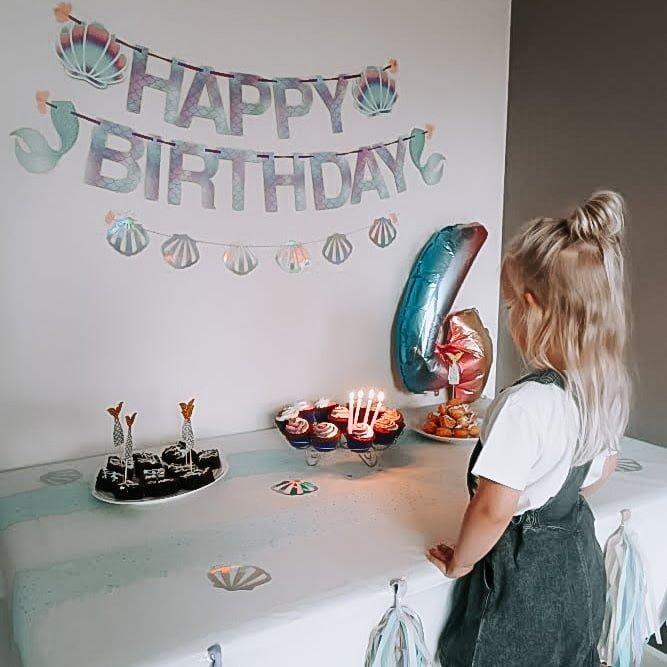 Zeemeermin verjaardagsfeestje Mermaid Sweet Table voor Suus - Mama's Meisje blog