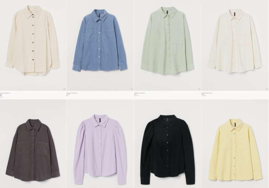 corduroy blouse van H&M - Mama's Meisje blog