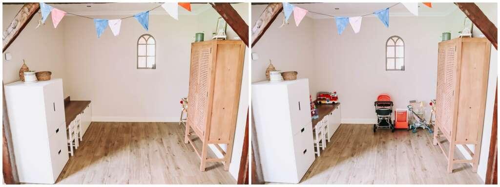 Speelhoek in de woonkamer - Mama's Meisje blog