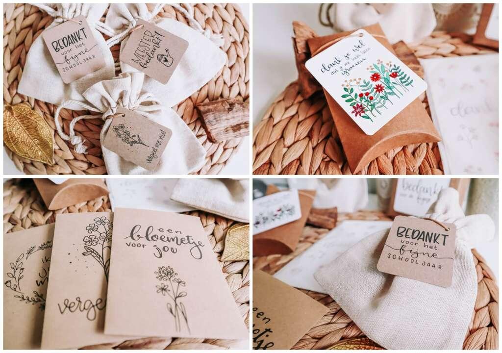 bloemzaadjes als traktatie tip ideeën kindertraktatie brievenbus trakteren - Mama's Meisje blog