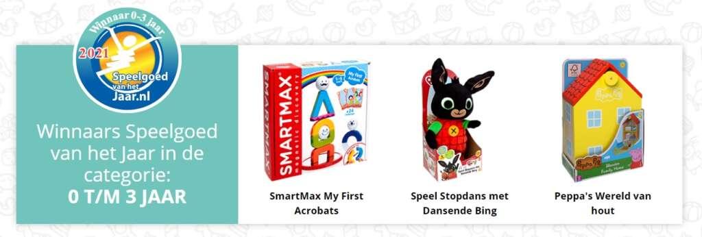 Speelgoed van het jaar 2021 categorie 0 - 3 jaar winnaars - Mama's Meisje blog