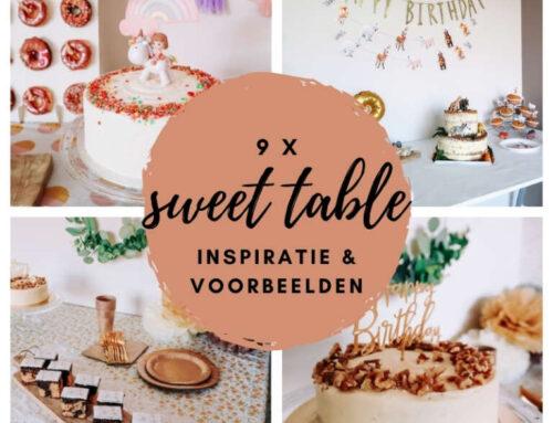 Sweet table inspiratie | 9 voorbeelden van zo'n zoete tafel!